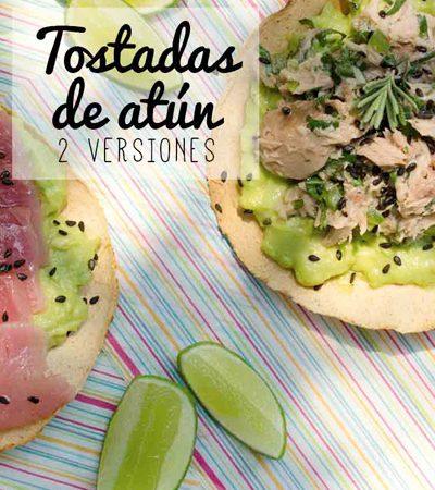 Tostadas de atún dos versiones