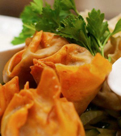 Triangulos de won ton de pollo y chipotle recetas chef oropeza jpg