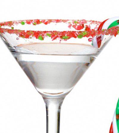 Vodka y menta navideño