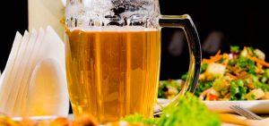 Cerveza y alimentación saludable