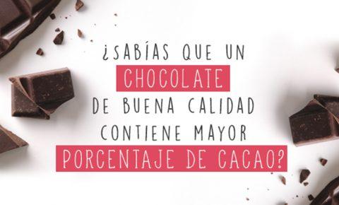 Degusta un chocolate de buena calidad