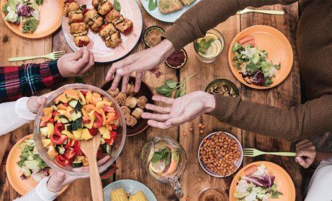 Granos enteros y porciones saludables