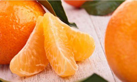 Mandarina, dulce, rica y baja en grasa