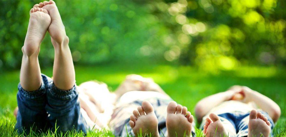 Niños alegres y sin estrés