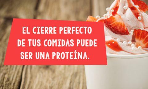 Proteínas presentes en postres