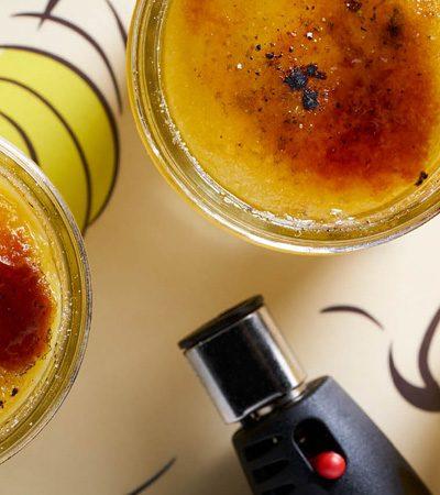 Crema catalana de té limón y cardamomo