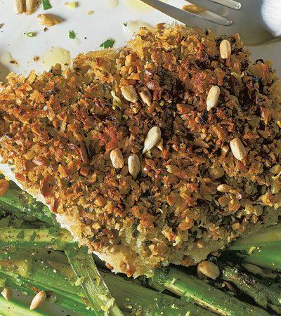 Esmedregal con costra de semillas de girasol