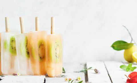 Paletas heladas de kiwi y toronja