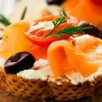 Baguette con salmón