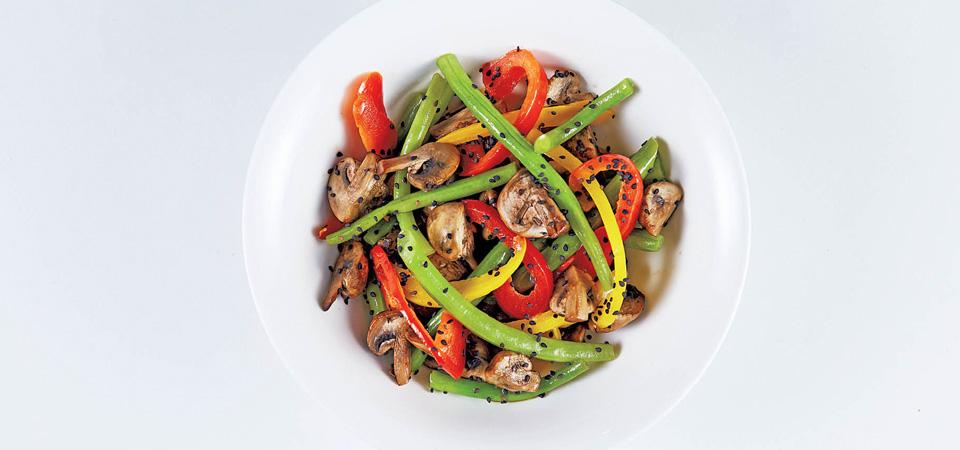 Wok de ejotes con ajonjol chef oropeza for Cocina wok segunda mano