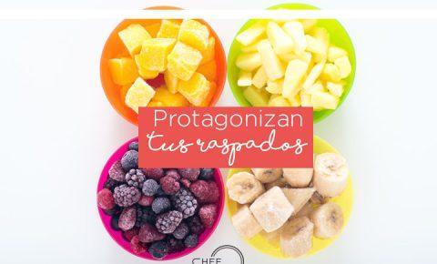 Hielo tritutado con sabor a fruta