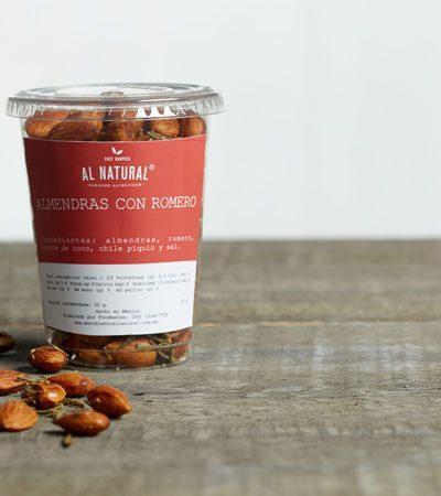 Almendras con romero (snack saludable)