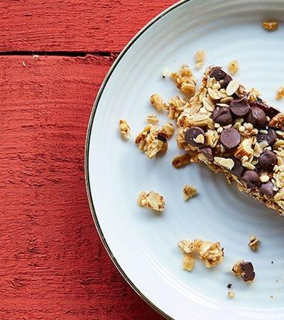 barritas de granola y chocolate casertas