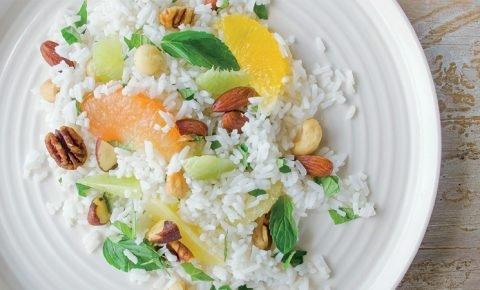 Ensalada de arroz con cítricos