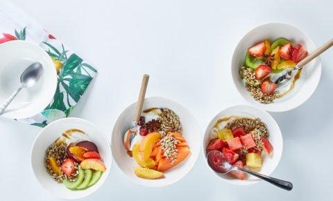 Ensalada de frutas con yogurt