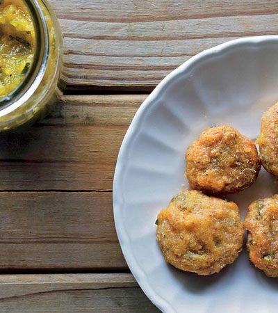 nuggets con chutney de piña