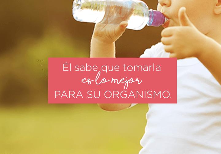 El buen hábito de tomar agua