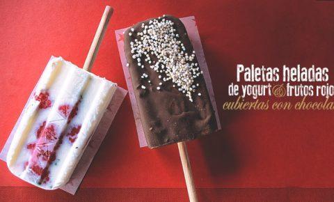 paletas heladas yogurt y chocolate