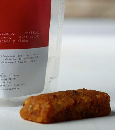 Power bars de chabacano (snack saludable)