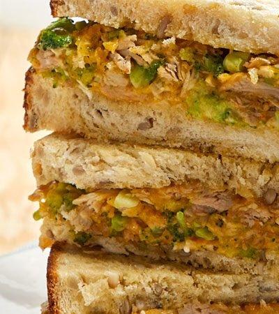 sándwich con pan casero