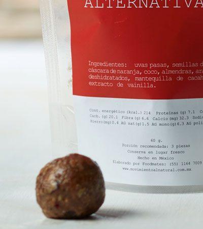 Trufas alternativas (Snack Saludable)