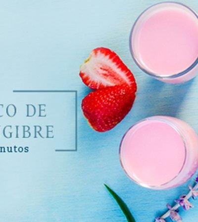 Shot afrodisiaco de fresa y jengibre