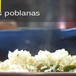 arroz blanco rajas poblanas