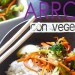 Arroz al vapor con vegetales