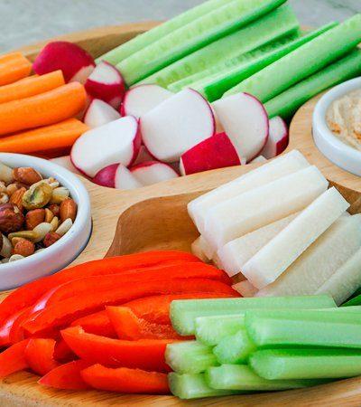 bastones de zanahoria y jicama
