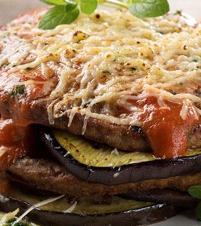 Berenjenas y Hamburguesa a la Parmesana