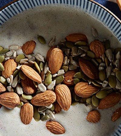 Receta bowl de smoothie de avena con semillas y platano recetas chef oropeza