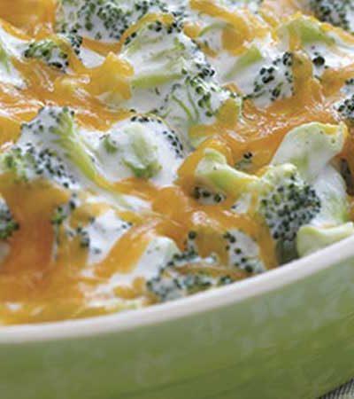 Brocoli cremoso con queso