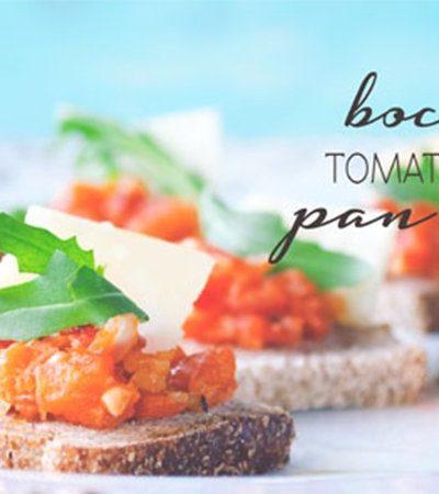 Bruschetta de tomate y parmesano