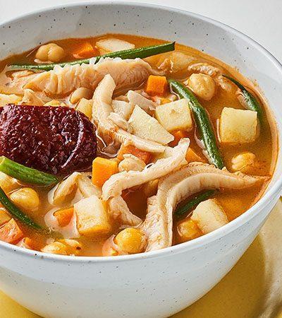 Caldo tlalpeño vegetariano