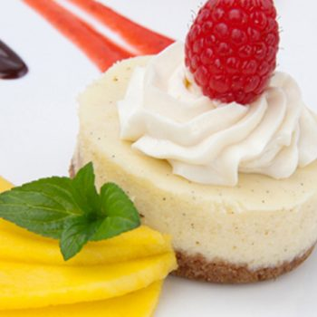 Cheesecake de mango y yogurt sin horno