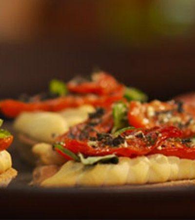 Crostinis con Tomates Deshidratados