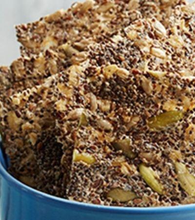 Crujientes de chía con harina de amaranto
