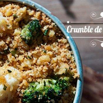 Crumble de coliflor y brócoli