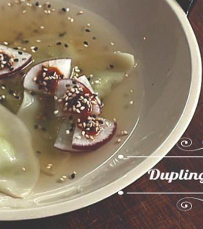 Dumplings de edamame