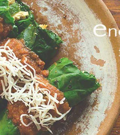 Enchiladas falsas de pollo y poblano