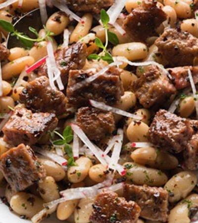 Ensalada de Alubias Picantes con Carne