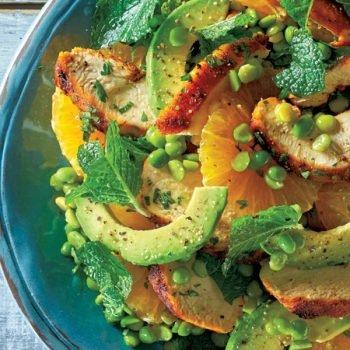 ensalada de pollo con chicharos aguacate y naranja recetas chef oropeza