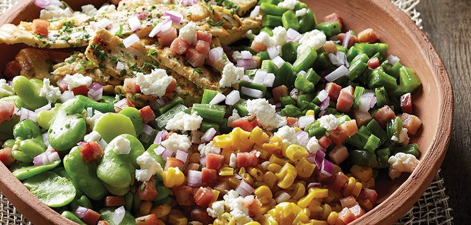 Ensalada De Habas Con Nopales Chef Oropeza