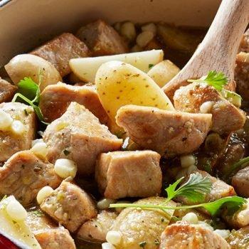 Estofado de cerdo con salsa verde y especias