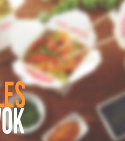 Fideos orientales al wok