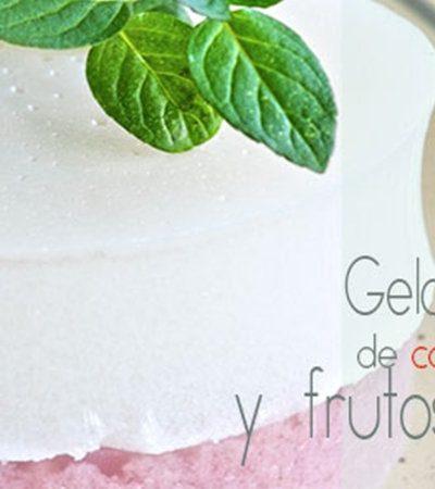 Gelatina de Coco y Frutas Rojas