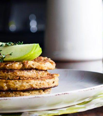 Hotcakes sin gluten con plátano y amaranto