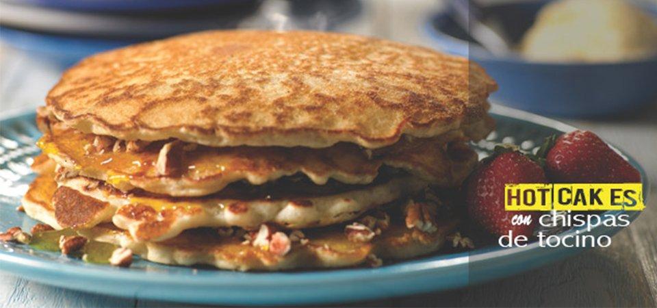 Hotcakes con Chispas de Tocino