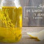 Infusión de limón amarillo y jengibre