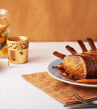 Lomo de cerdo glaseado con miel maple picante
